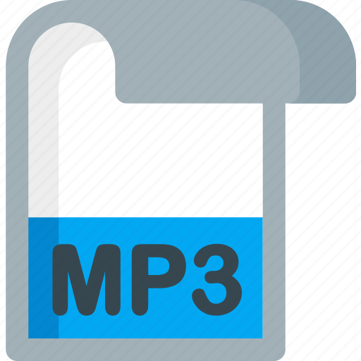 document, extension, file, folder, mp3, paper icon