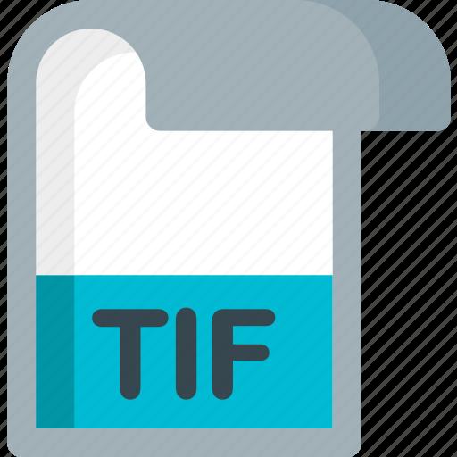 document, extension, file, folder, paper, tif icon