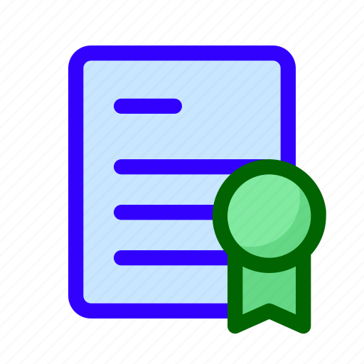 certificate, lisence, paper icon
