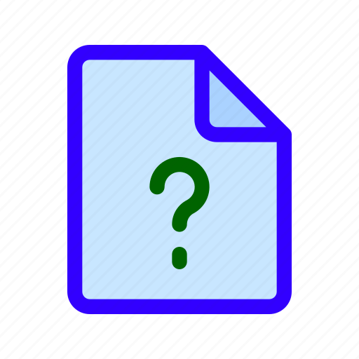 ask, document, file, question icon
