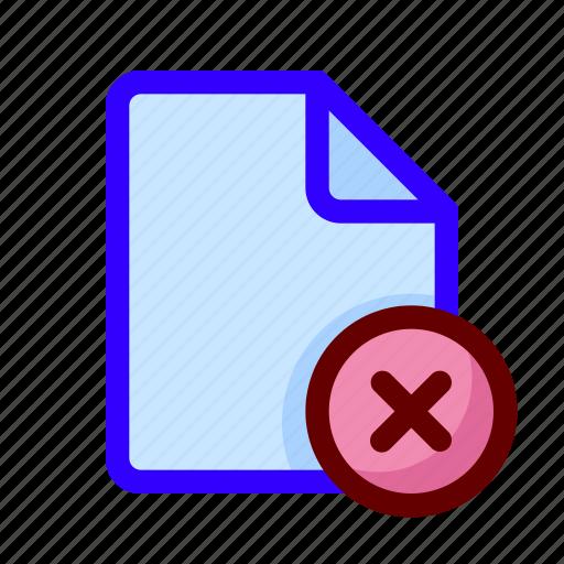 blocked, document, error, file icon