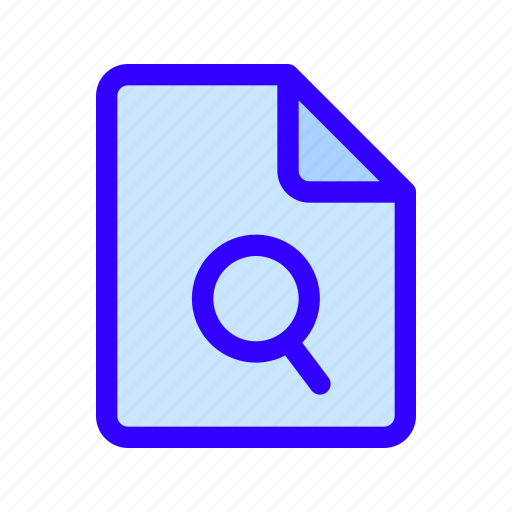 document, file, scan, search icon