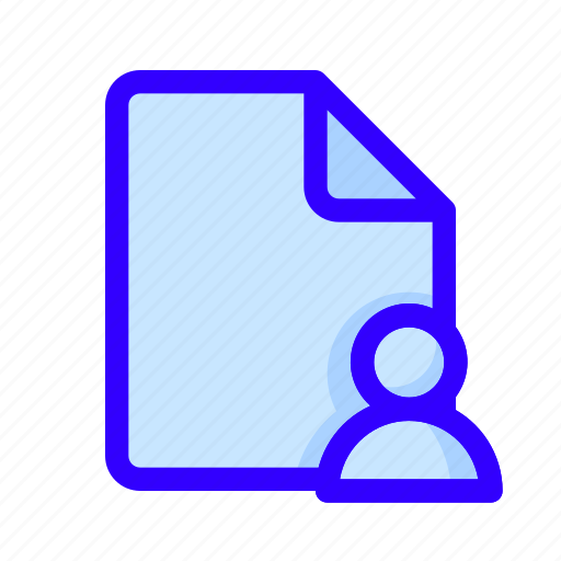document, file, user icon