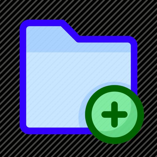 add, files, folder, new icon