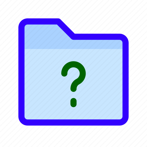 ask, files, folder, question icon