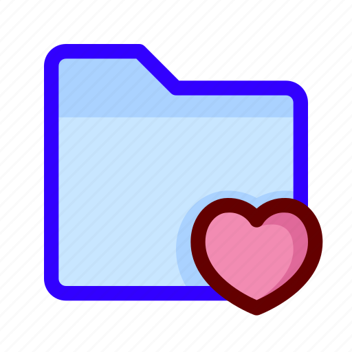 favorite, files, folder, love icon