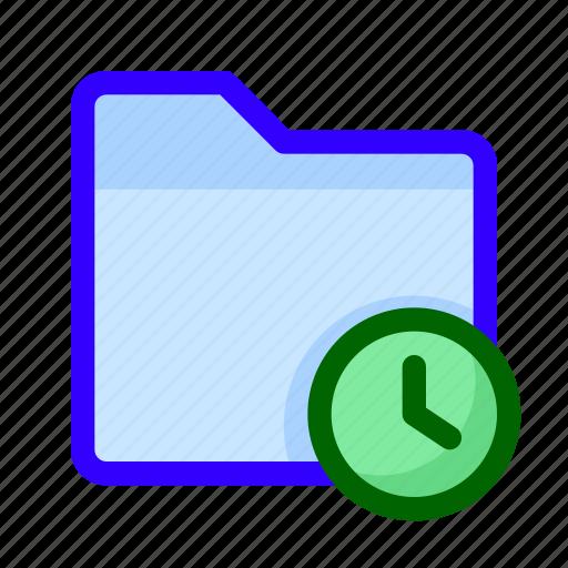 clock, files, folder, time icon