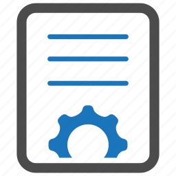 content management, gear, options, settings icon