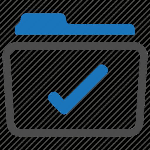checkmark, complete, done, folder icon