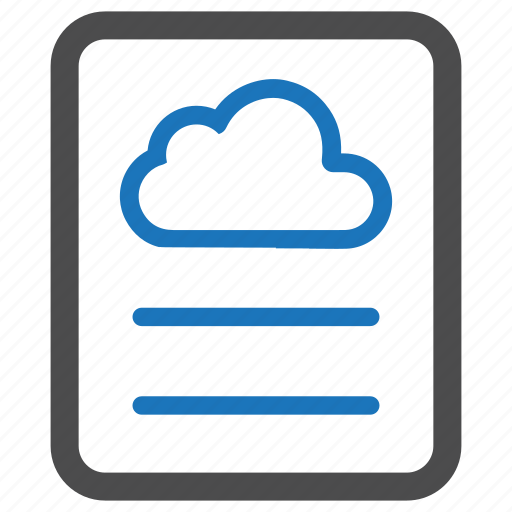 cloud, document, guardar, layout, page, save icon