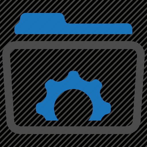 folder, gear, options, settings icon