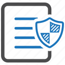 document, file, page, protect, safe, shield, trusted