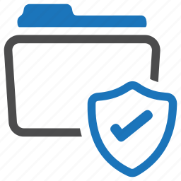 documents, files, folder, protect, safe, shield, storage icon