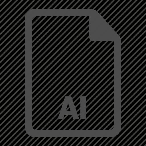 ai, extension, file, format, illustrator, image, media icon