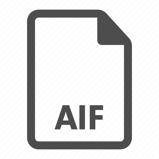 aif, audio, document, extension, file, format, media icon