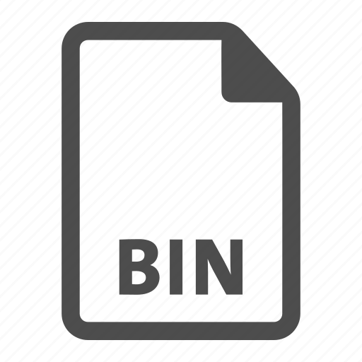 bin, document, extension, file format, format icon