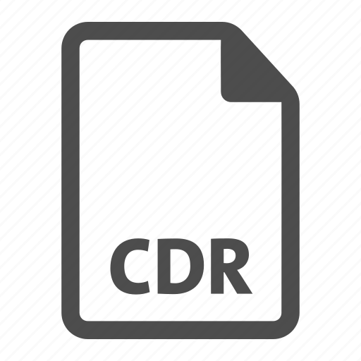 cdr, document, extension, file, format icon