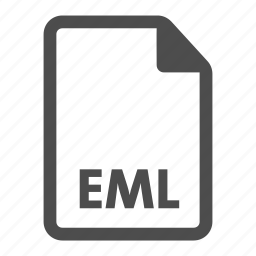 document, eml, extension, file, format, video icon