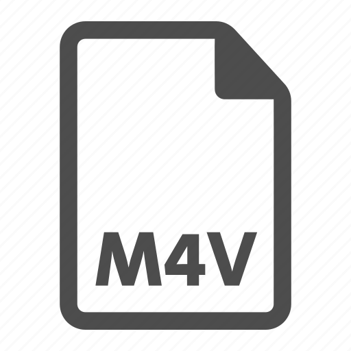 document, extension, m4v, video icon