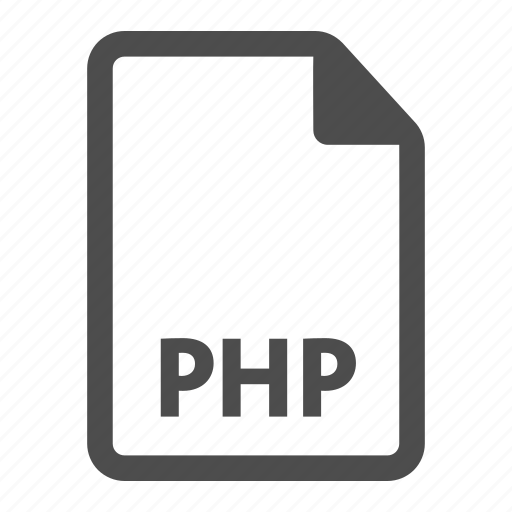 document, extension, file, format, indesign, php icon