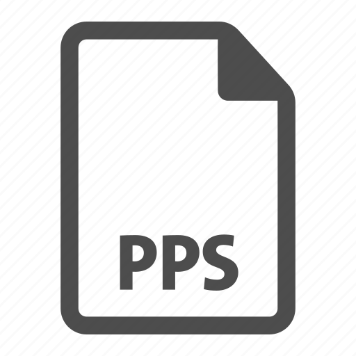 document, extension, file, format, pps icon