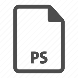 document, extension, file, format, photoshop, ps icon