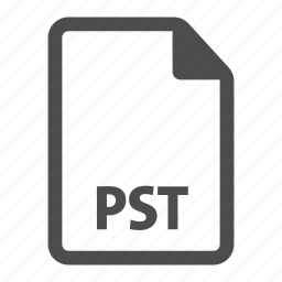 document, extension, file, format, pst icon