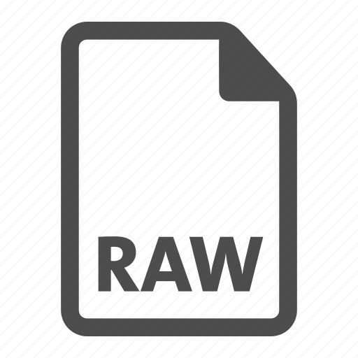 document, extension, file, format, raw icon