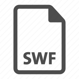 document, extension, file, format, swf icon