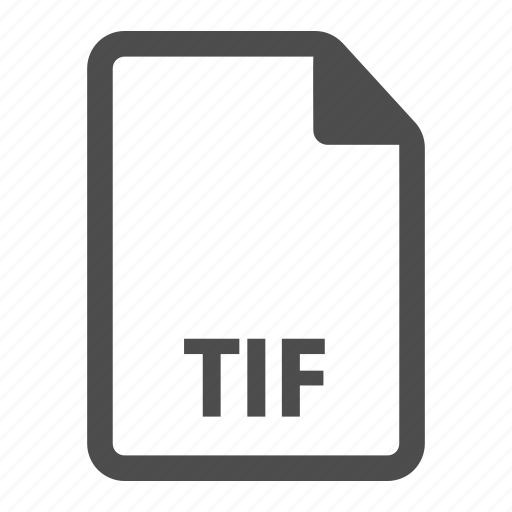 document, extension, file, format, tif icon