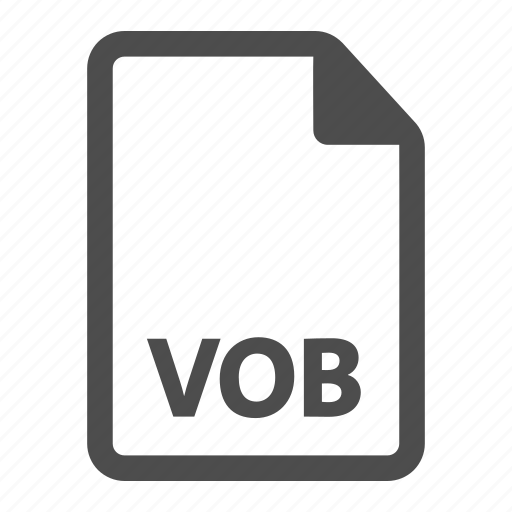 document, extension, file, format, media, vob icon
