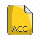 acc, archive file format, extension, file icon