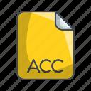 acc, archive file format, extension, file