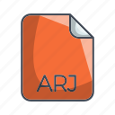 archive file format, arj, extension, file icon