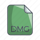 archive file format, dmg, extension, file icon