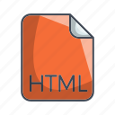 code file format, extension, file, html icon