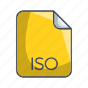 archive file format, extension, file, iso icon