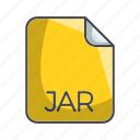 extension, file, jar, system file format icon