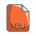 archive file format, extension, file, m3u icon