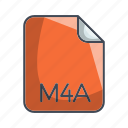 archive file format, extension, file, m4a icon