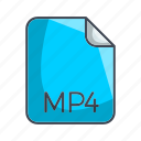 mp4, video file format icon