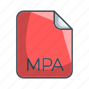 archive file format, extension, file, mpa icon
