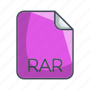 archive file format, extension, file, rar icon