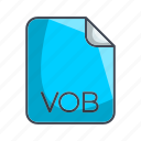 extension, file, video file format, vob icon