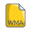 archive file format, extension, file, wma icon