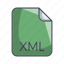 code file format, extension, file, xml icon