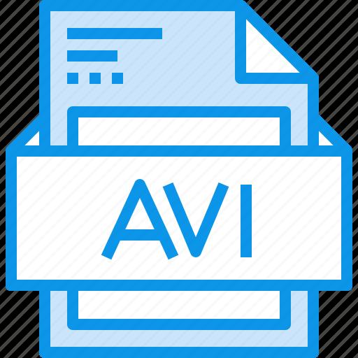 avi, data, document, file, format, type icon
