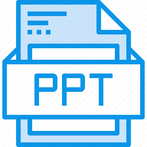 data, document, file, format, ppt, type icon