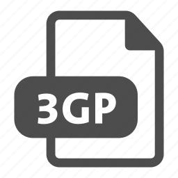 3gp, document, extension, file, format icon
