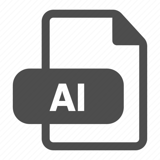 ai, extension, file, format, illustrator, image, media icon